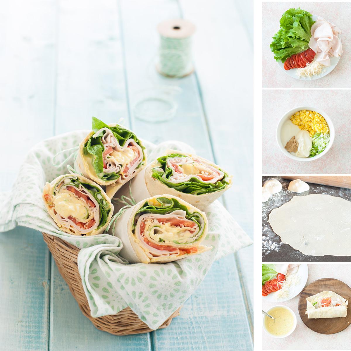 Wrap di farro farciti - ricetta picnic o spuntino sfizioso