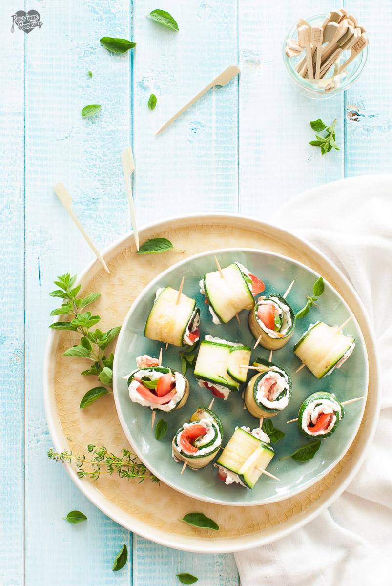 Involtini di Zucchine Grigliate Ripieni