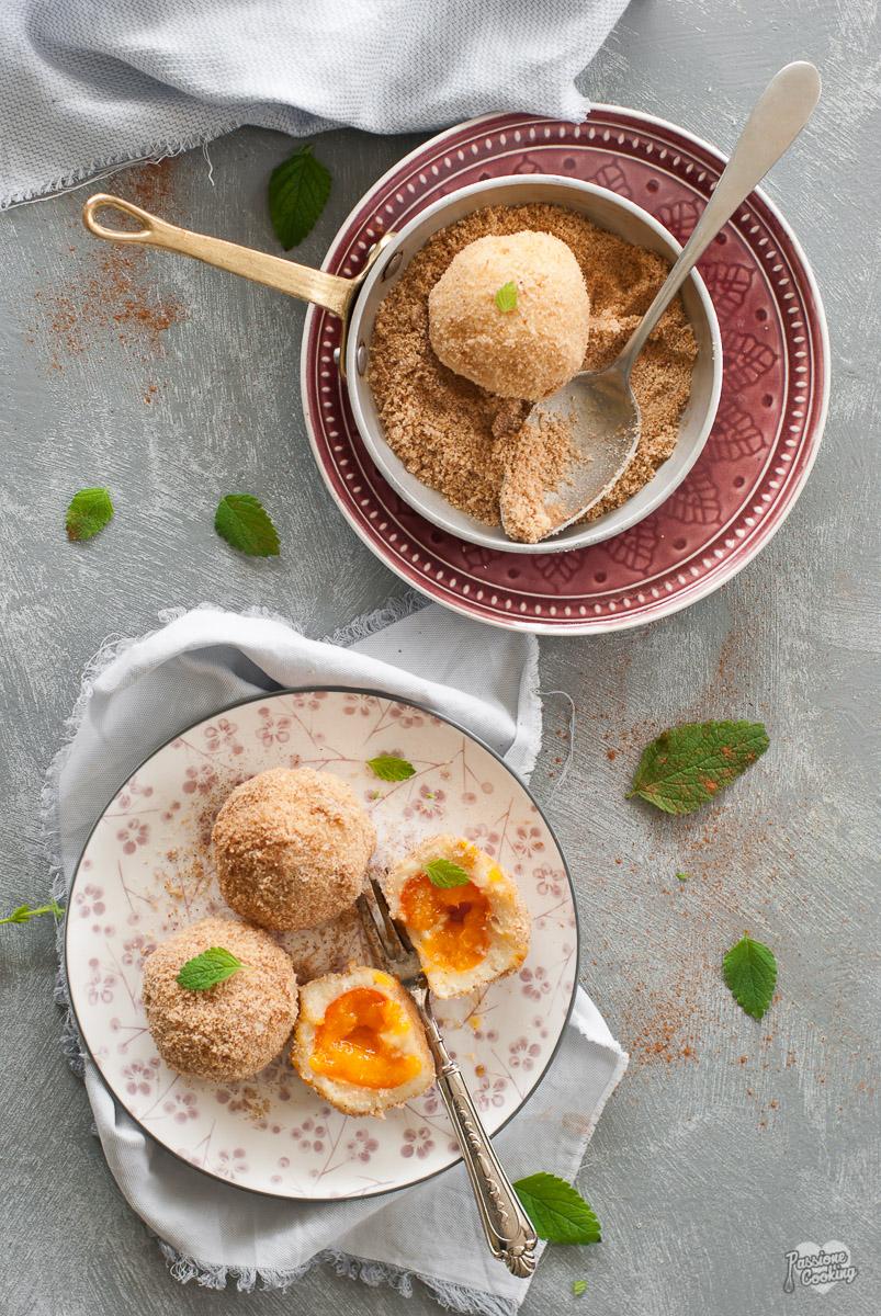 Canederli di albicocche con impasto di patate - ricetta Alto Adige
