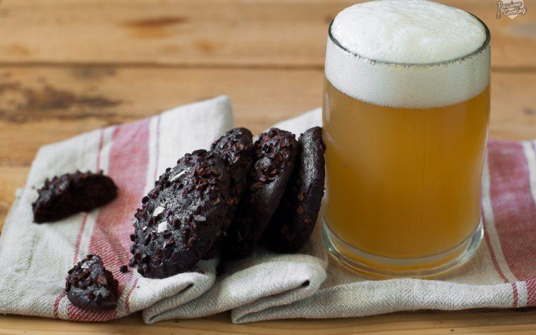 Biscotti alla birra e cioccolato fondente