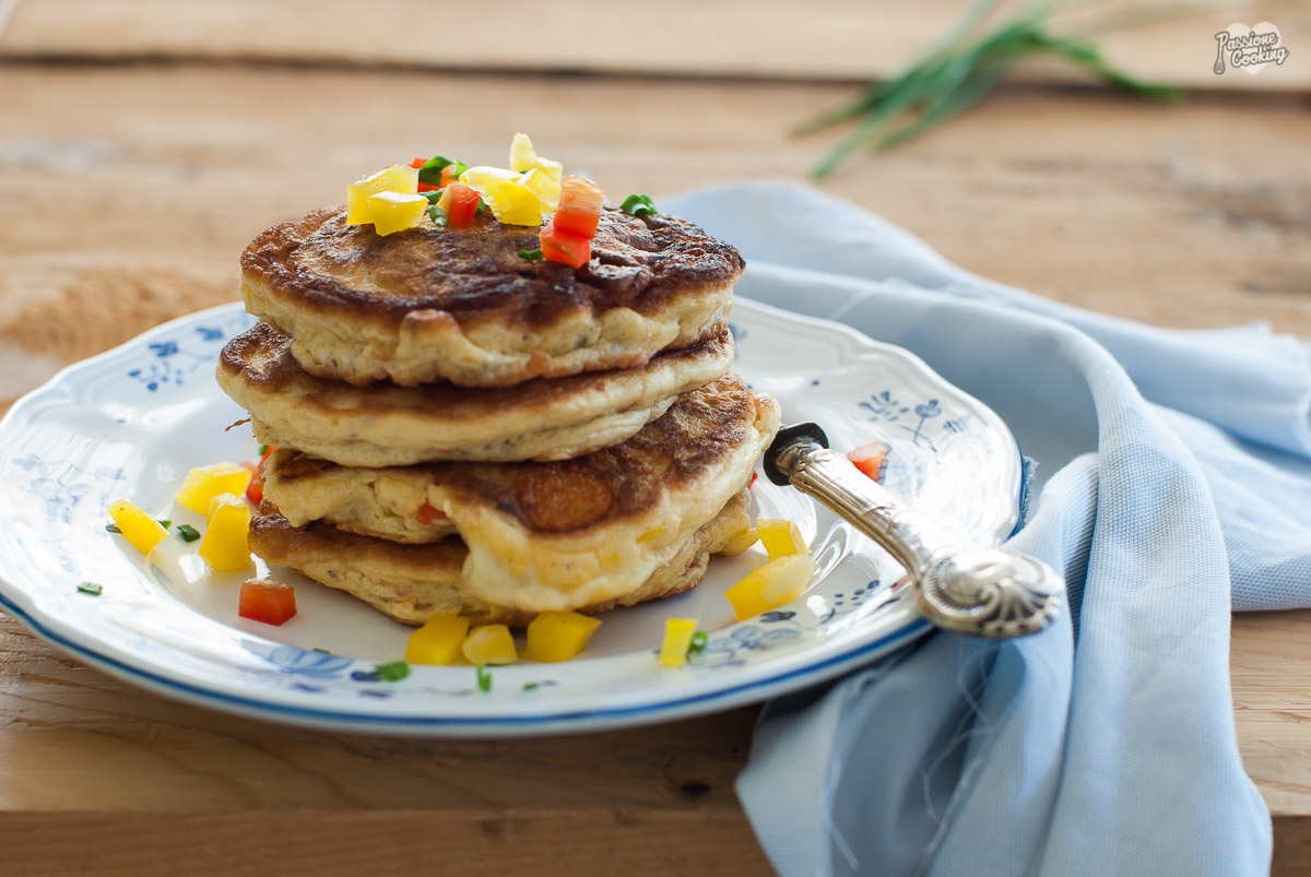 Pancake veloci con peperoni e formaggio passionecooking for Preparare un brunch