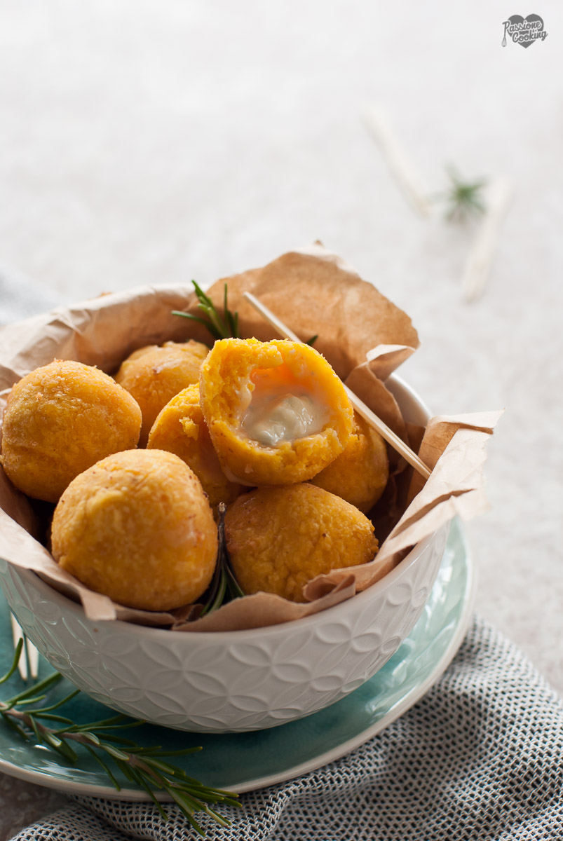 Bombette di Zucca e Polenta con Gorgonzola