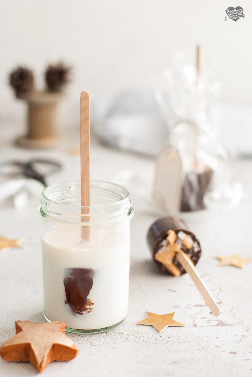 Cioccolata calda su stecco - regalo fai da te