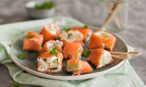 Involtini di salmone con kiwi – freschi e veloci