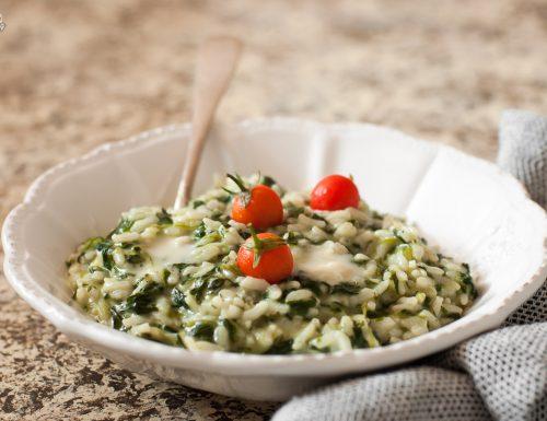 Risotto spinaci e gorgonzola – semplice e cremoso