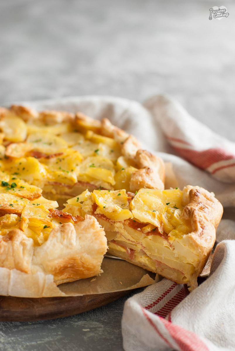 Torta di patate in sfoglia - scenografica e gustosa