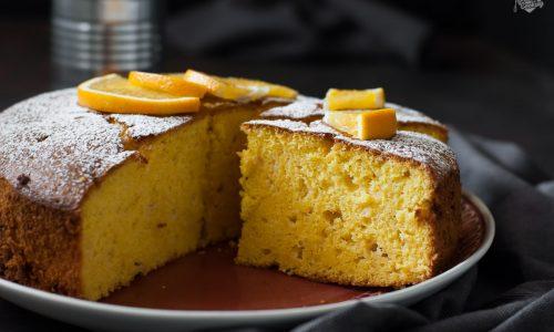 Torta di arance e cioccolato bianco