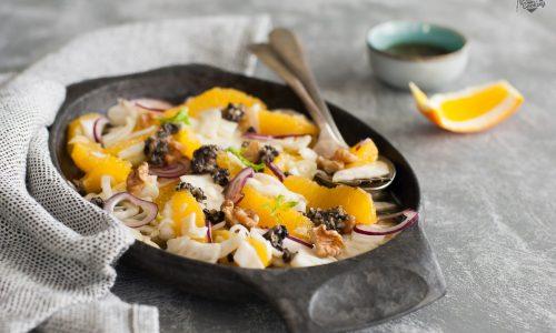 Insalata di arance e finocchi con pesto di olive