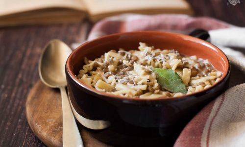 Pasta risottata con le lenticchie