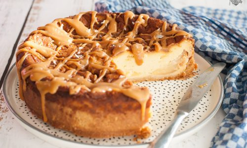 Cheesecake al caramello cotta al forno