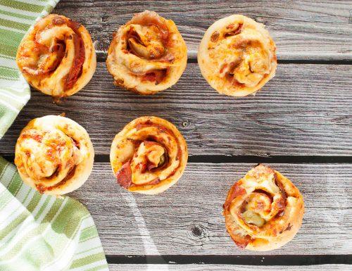 Muffin di pizza – buoni caldi o freddi