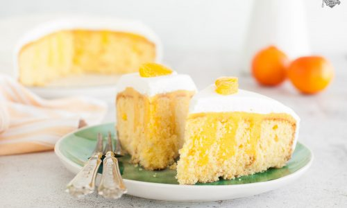 Poke cake al mandarino con panna