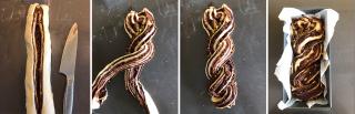 Babka al cioccolato e pistacchi salati