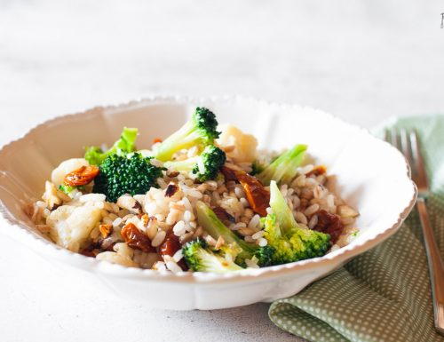 Farro e riso con verdure – primo vegetariano