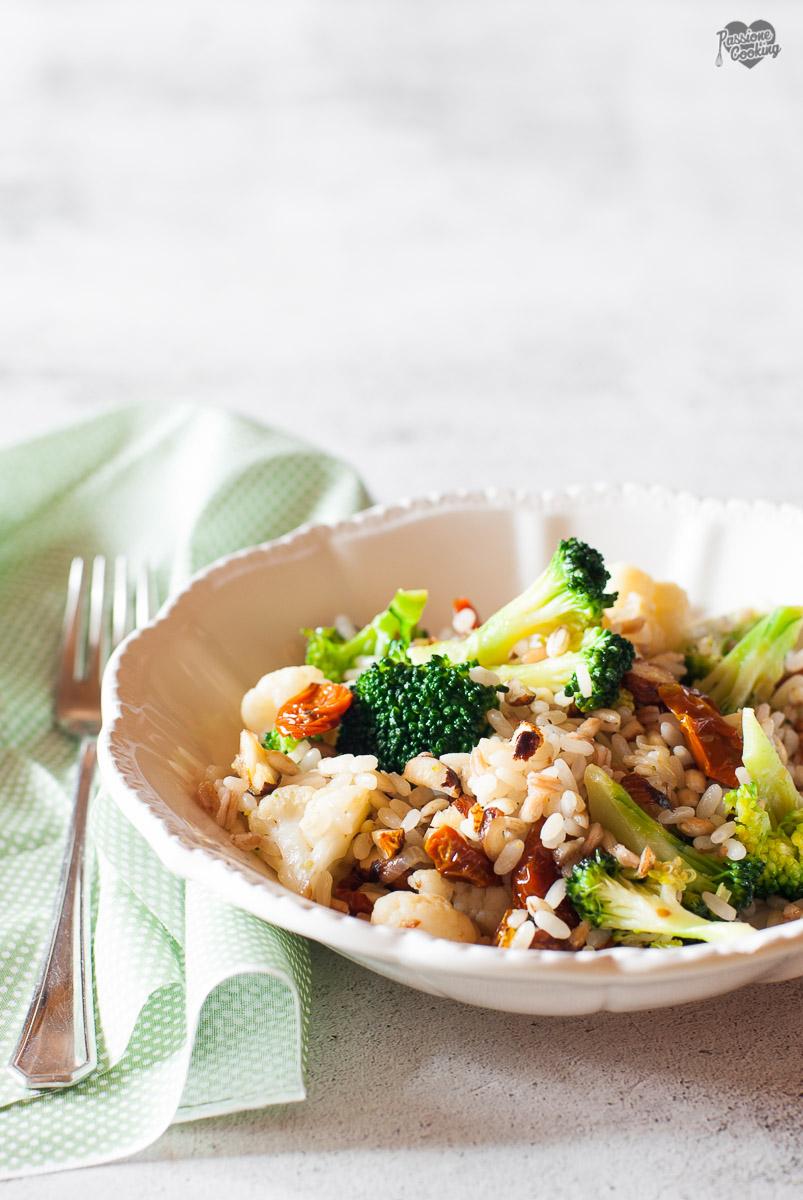 Farro e riso con verdure - primo vegetariano