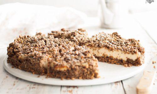 Torta crumble di grano saraceno e crema