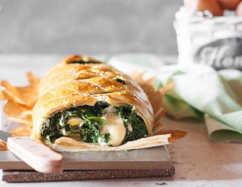 Strudel di spinaci e uova – filante e gustoso