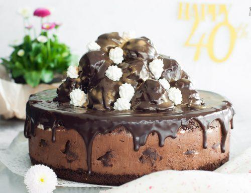 Torta profiteroles con Namelaka al cioccolato