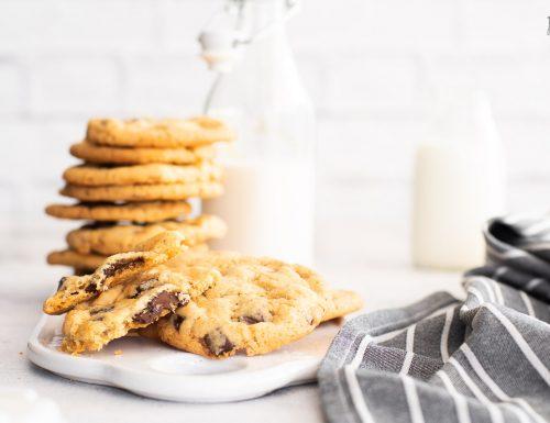 American cookies – Biscotti con gocce di cioccolato