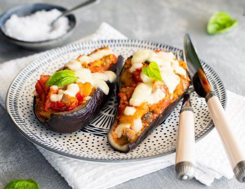 Melanzane ripiene vegetariane – cotte al forno