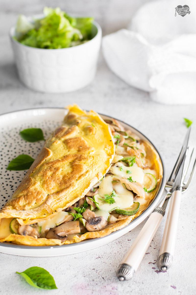 Omelette con Funghi e Zucchine – Ricetta Vegetariana