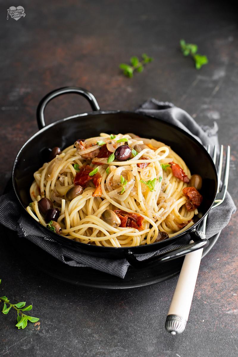Spaghetti alla mediterranea - saporiti e veloci