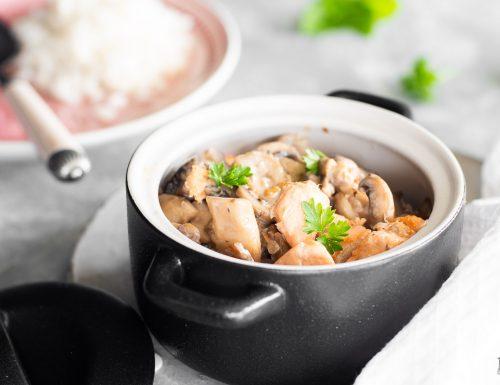 Straccetti di salmone e funghi gustosi