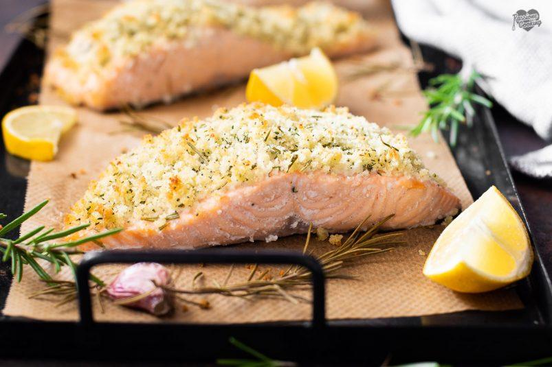 Salmone gratinato alle erbette - ricetta veloce