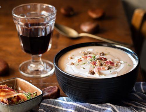 Vellutata di castagne – un gusto avvolgente