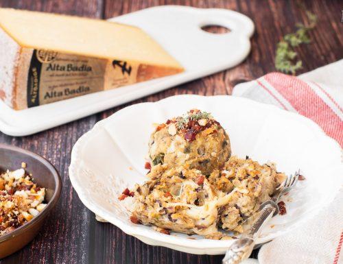 Canederli di radicchio con formaggio Alta Badia