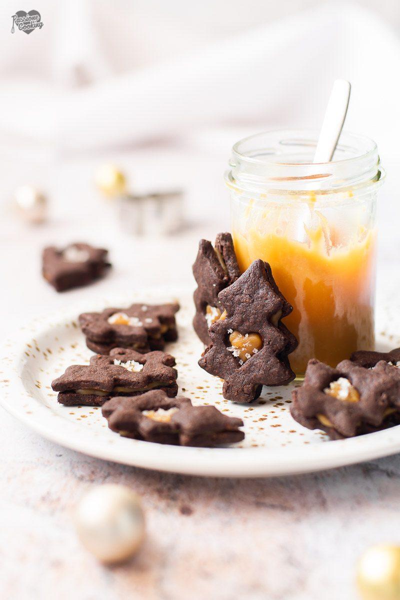 Biscotti al cioccolato e caramello salato