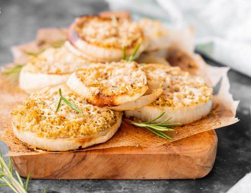 Cipolle gratinate al forno – buone calde e fredde