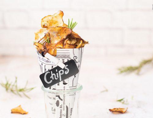Chips di topinambur croccanti cotti al forno