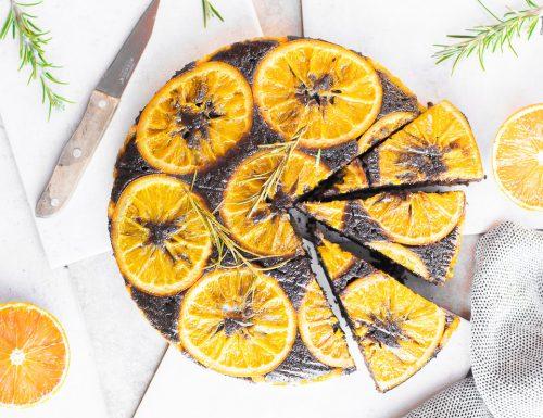 Torta rovesciata con arance e cioccolato – senza uova
