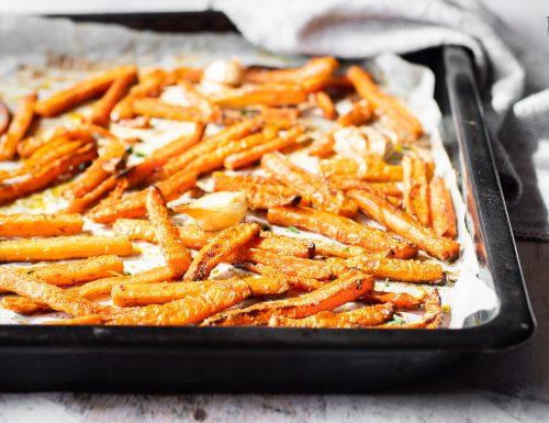 Stick di carote al forno speziati – semplici e sfiziosi