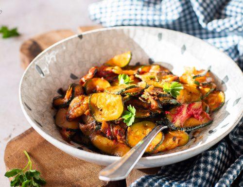 Zucchine al pomodoro cotte in padella