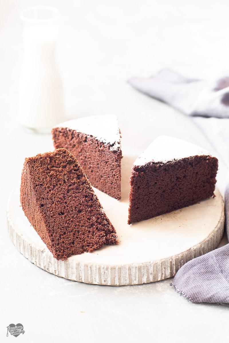 Torta al latte caldo e cacao - sofficissima