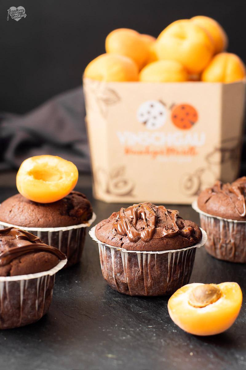Muffin con albicocche e cacao