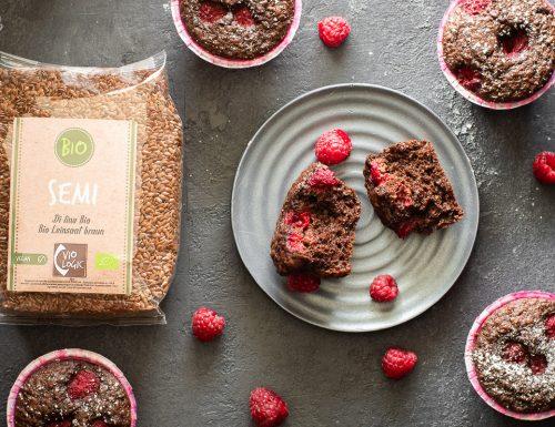 Muffin con semi di lino e cacao – morbidi e genuini