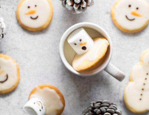 Biscotti pupazzo di neve al limone