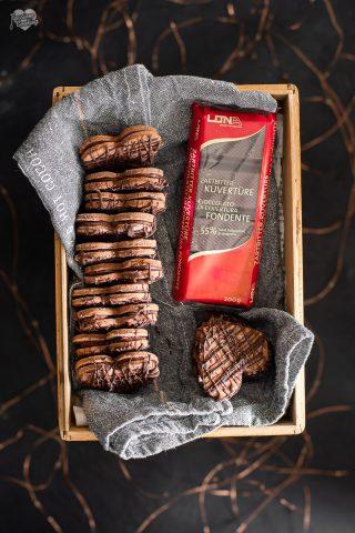 Cuori di cioccolato e caffé