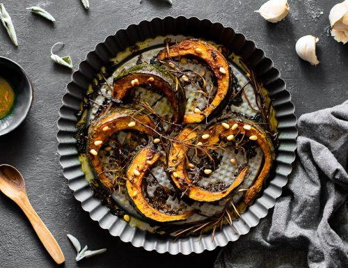 Zucca al forno con spezie e salsa di soia