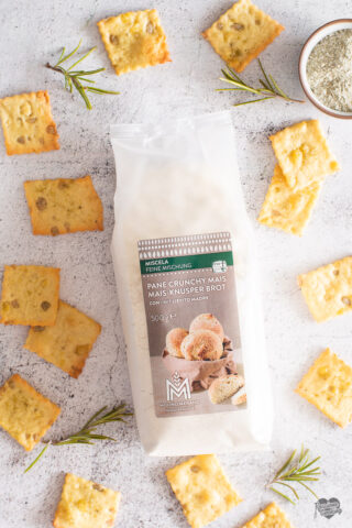 Cracker crunchy al mais e rosmarino