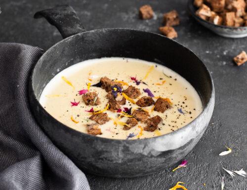 Zuppa alla birra e formaggio di montagna