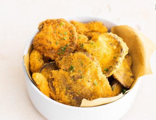 Funghi pleurotus impanati e fritti