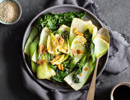 Pak-Choi con zenzero e salsa di soia