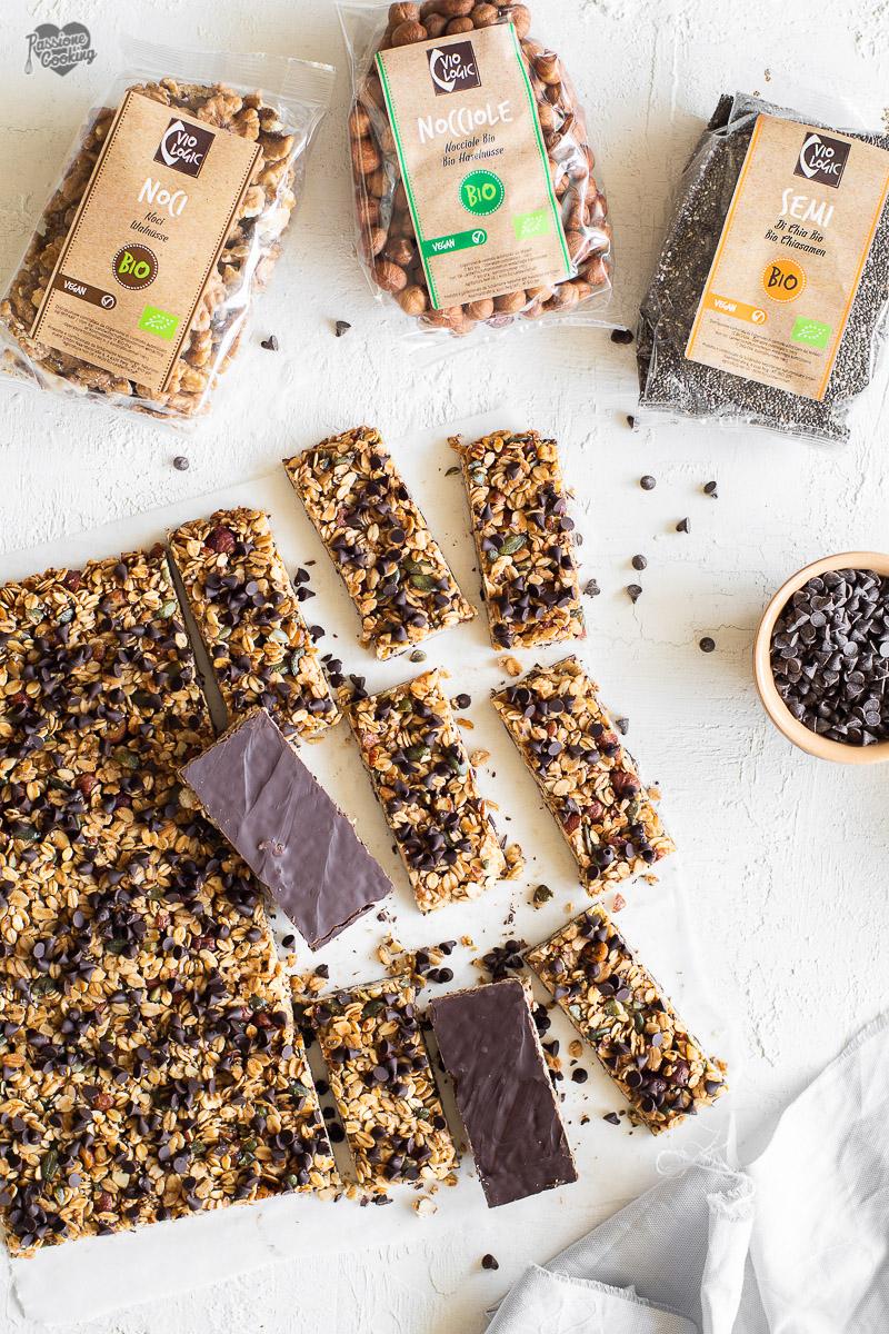 Granola bars al cioccolato - uno snack sano e goloso