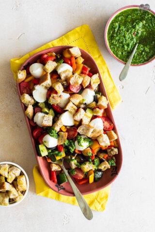 Verdure arrosto con salsa chimichurri