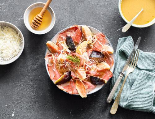 Carpaccio di Speck Alto Adige IGP, fichi e dressing alla senape