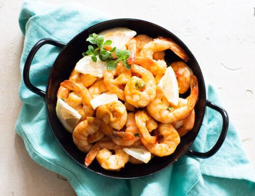 Gamberi in salsa agrodolce e aglio